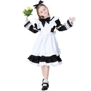 Alice maid costume parent-child girls detachable long-sleeved Halloween costume