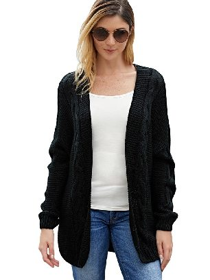 Supply Winter Sweater Chunky Wide Long Sleeve Knit Cardigan