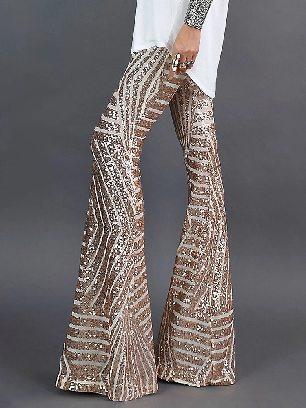 Supply Women Sequin Wide Leg Pants