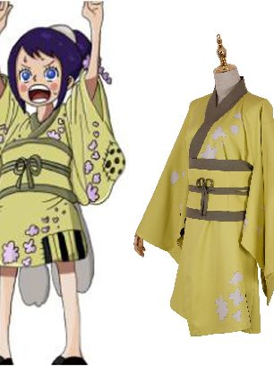 ONE PIECE Wano Country Otama Girl Ayu Cosplay Costume