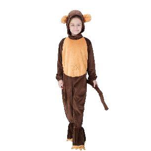 Kids children monkey animal cosplay Halloween costume