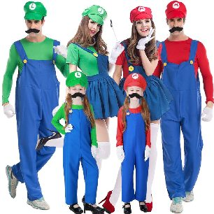 Louis Brothers Gaming Group Plumber Overalls Parent-child Clothes Halloween Costume