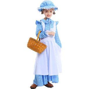blue girl farm idyllic lolita Halloween costume
