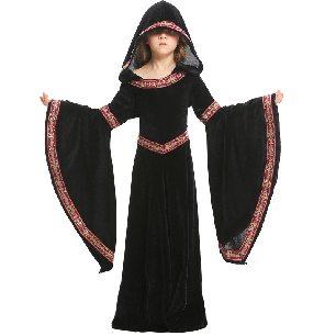Children Costumes Europe 15 Medieval Costumes Black Pattern Halloween Girl Costumes