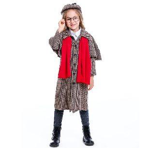 Halloween parent-child movie character Detective Sherlock Holmes cosplay unisex costume