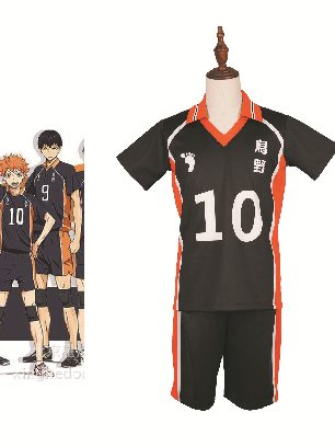Volleyball Boy Cosplay Costume Short Sleeve Sports Suit