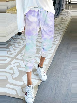 Supply Gradient Drawstring Tie Dye Ancle-length Jogger