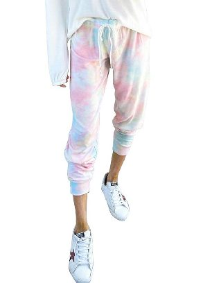 Supply Gradient color Gradient Drawstring Tie Dye Ancle-length Jogger