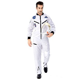 white parent-child astronaut space suit pilot professional role cosplay costume with hat