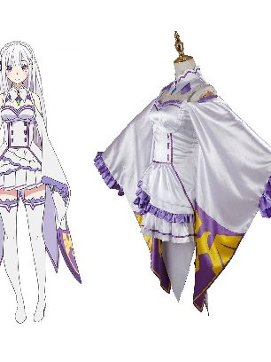 Zero-based Life in Another World Emilya Cosplay Costume