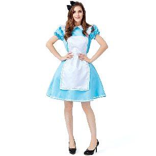 Alice in Wonderland costume Alice maid parent-child costume Halloween costume