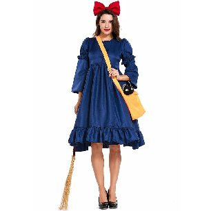 Witch adult dress girl little witch Kiki Halloween costume
