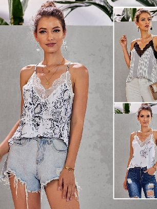 Supply Sling Love Bites Lace Cami Tank Women