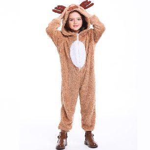 pla parent-child animal costume reindeer elk play coral fleece Christmas costume