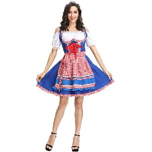 Oktoberfest costume carnival costume plaid beer costumes Halloween costume