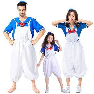 cute duckling sailor suit navy duck cartoon anime parent-child suit Halloween costume