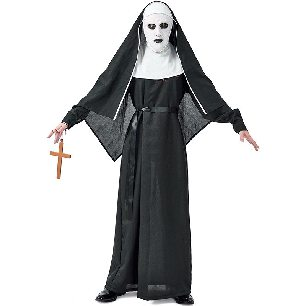 carnival horror monastery demon nun unisex male reverse movie role Halloween cosplay costume