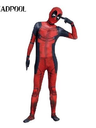 Deadpool Halloween Full Body Morph Costume Spandex Holiday Unisex Lycra Morph Zentai Suit