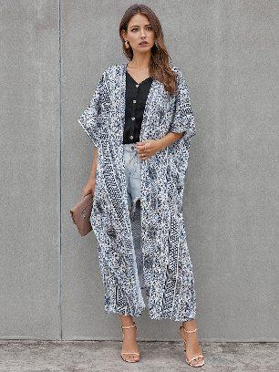 Supply Casual Loose Bohemian Style Tie Kimono