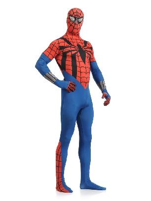 Red and Blue Spiderman Super Hero Full Body Morph Costume Spandex Holiday Unisex Lycra Morph Zentai Suit