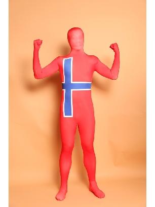 Sweden National Flag Full Body Morph Costume Halloween Spandex Holiday Unisex Cosplay Zentai Suit