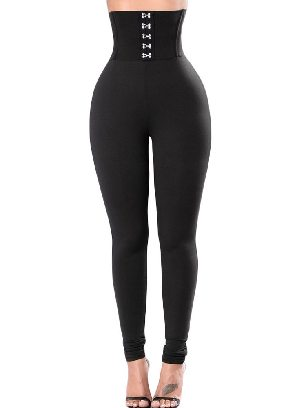Supply Sexy Black Corset Belt High Waist Tights Leggings
