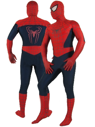 Cheap Red Lycra Spandex Morph Zentai Unisex Spiderman Costume