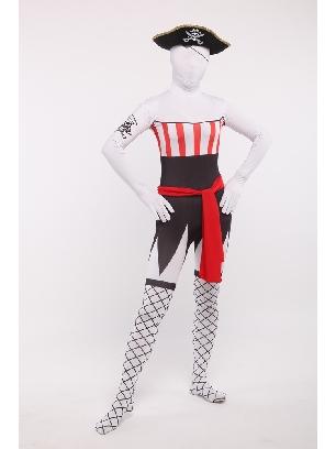 Unisex Pirates Servant Full Body Morph Costume Spandex Holiday Cosplay Zentai Suit