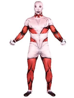 Attack on Titan Cartoon Full Body Morph Costume Halloween Unisex Cosplay Zentai Suit