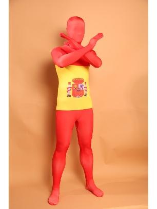 Spain National Flag Full Body Morph Costume Halloween Spandex Holiday Unisex Cosplay Zentai Suit