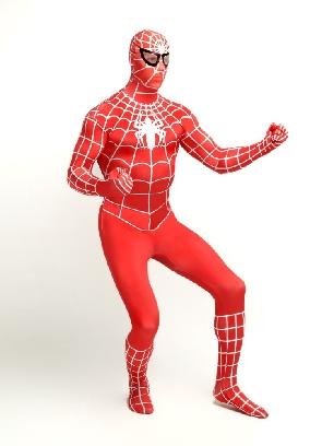 Red Spiderman Super Hero Full Body Morph Costume Spandex Holiday Unisex Lycra Morph Zentai Suit