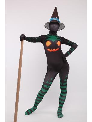 Halloween Witch Unisex Full Body Morph Costume Spandex Holiday Unisex Cosplay Zentai Suit