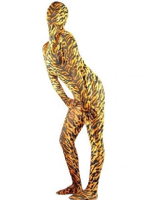 Tiger Lycra Spandex Morph Zentai Unisex Zentai Catsuit