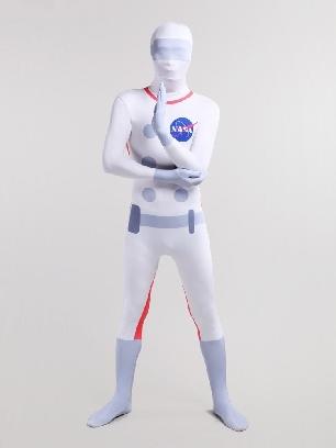 Halloween Nasa Astronaut Unisex Full Body Morph Costume Spandex Holiday Unisex Cosplay Zentai Suit