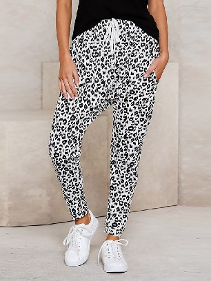 Supply Summer Loose Skinny Leopard Print Ancle-length Pants