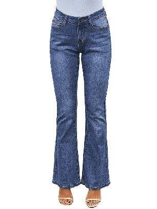 Light Blue Wash Vintage Wide Leg High Waist Flared Jeans