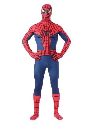 Black and Red Spiderman Super Hero Full Body Morph Costume Spandex Holiday Unisex Lycra Morph Zentai Suit