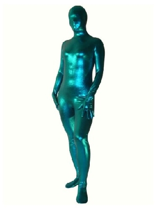 Suitable Perfect Top Blue Zentai Costume Shiny Metallic Unisex Zentai Suit Holiday Costume
