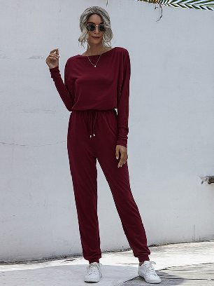 Supply Loose One-piece Tie feet Casual Jumpsuit