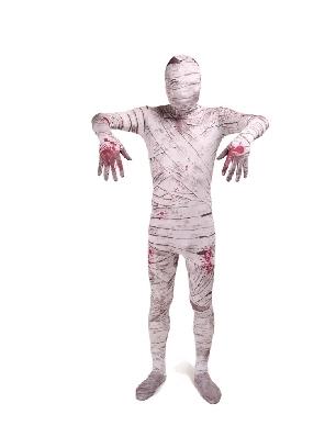 Mummy Full Body Morph Costume Halloween Spandex Holiday Unisex Cosplay Zentai Suit
