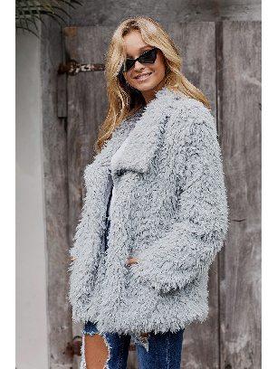 Warm Fur Long Sleeve Casual Jacket