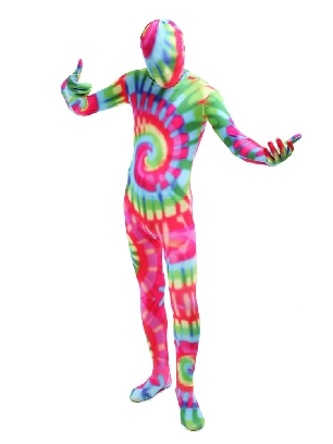 Adult Colorful Full Body Morph Costume Halloween Spandex Holiday Unisex Cosplay Zentai Suit