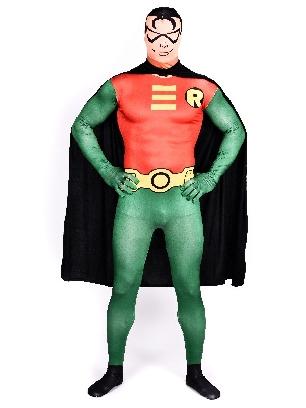 Robin Batman Full Body Morph Costume Halloween Spandex Holiday Unisex Cosplay Zentai Suit