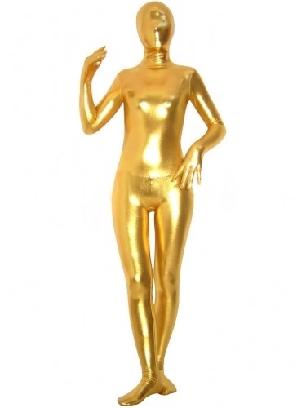 Golden Zentai Costume Shiny Metallic Unisex Zentai Suit Holiday Costume