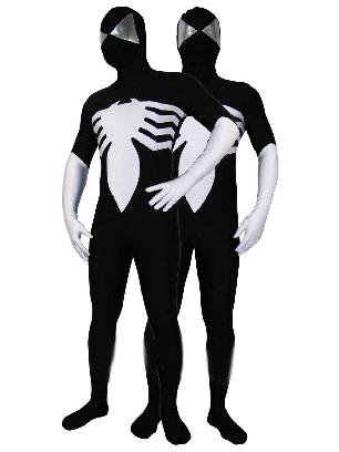 Black Lycra Spandex Morph Zentai Spiderman Zentai Costume