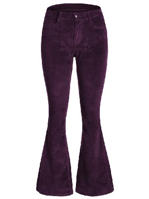 Supply Velvet Flared Bottom Leg Pants