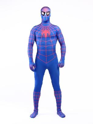 Blue Spiderman Super Hero Halloween Full Body Morph Costume Spandex Holiday Unisex Lycra Morph Zentai Suit