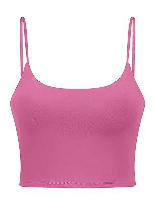 Pink Yoga Beauty Back Underwear Wireless Seamless Sport Yoga Bra Crop Tank