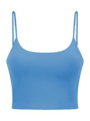 Blue Yoga Beauty Back Underwear Wireless Seamless Sport Yoga Bra Crop Tank