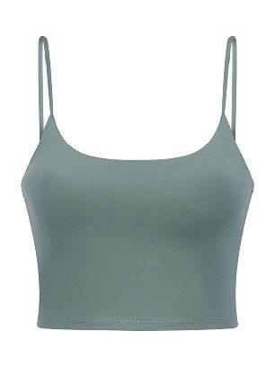 Green Yoga Beauty Back Underwear Wireless Seamless Sport Yoga Bra Crop Tank